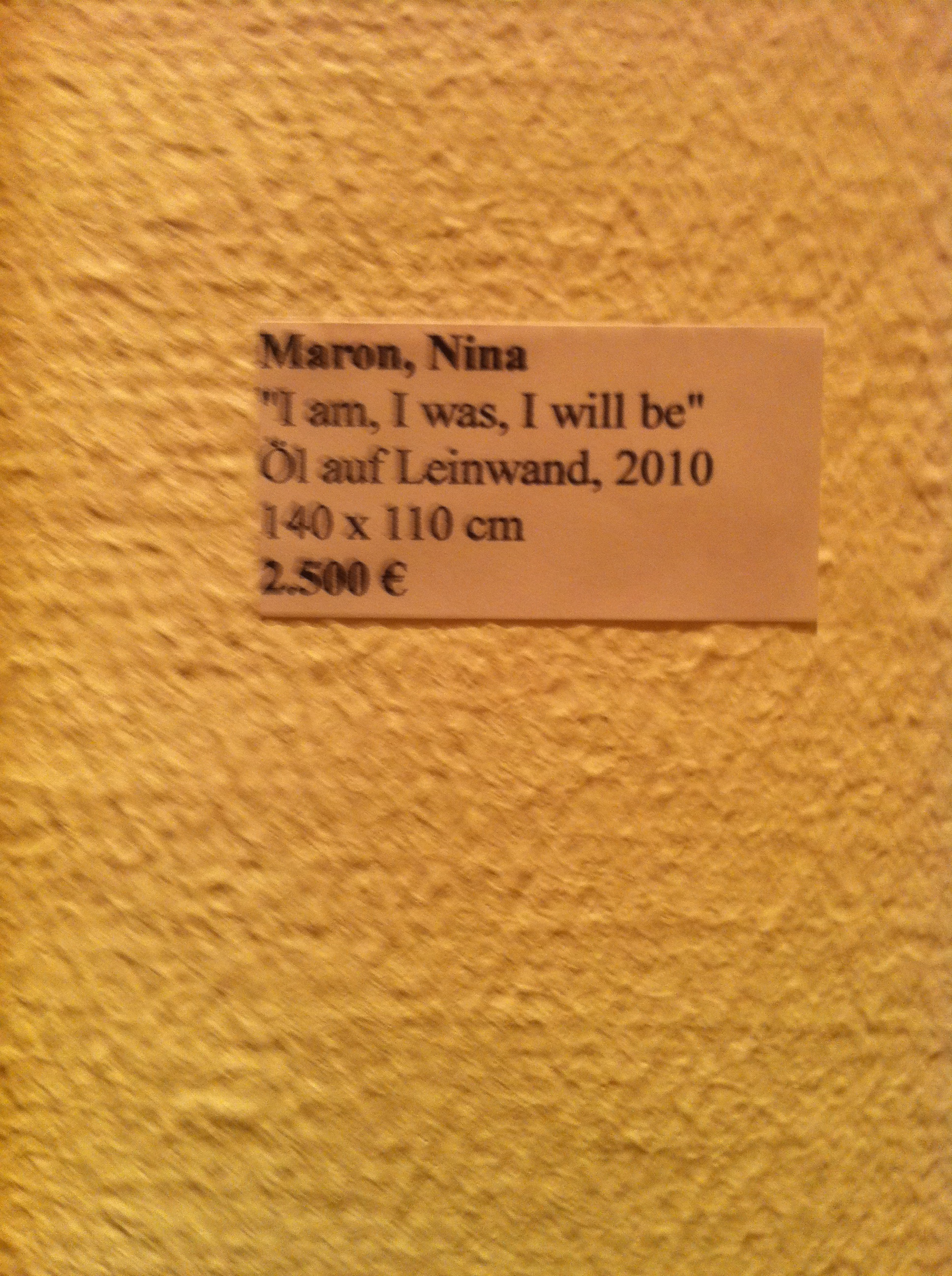 Maron, Nina_I am, I was, I will be_tag