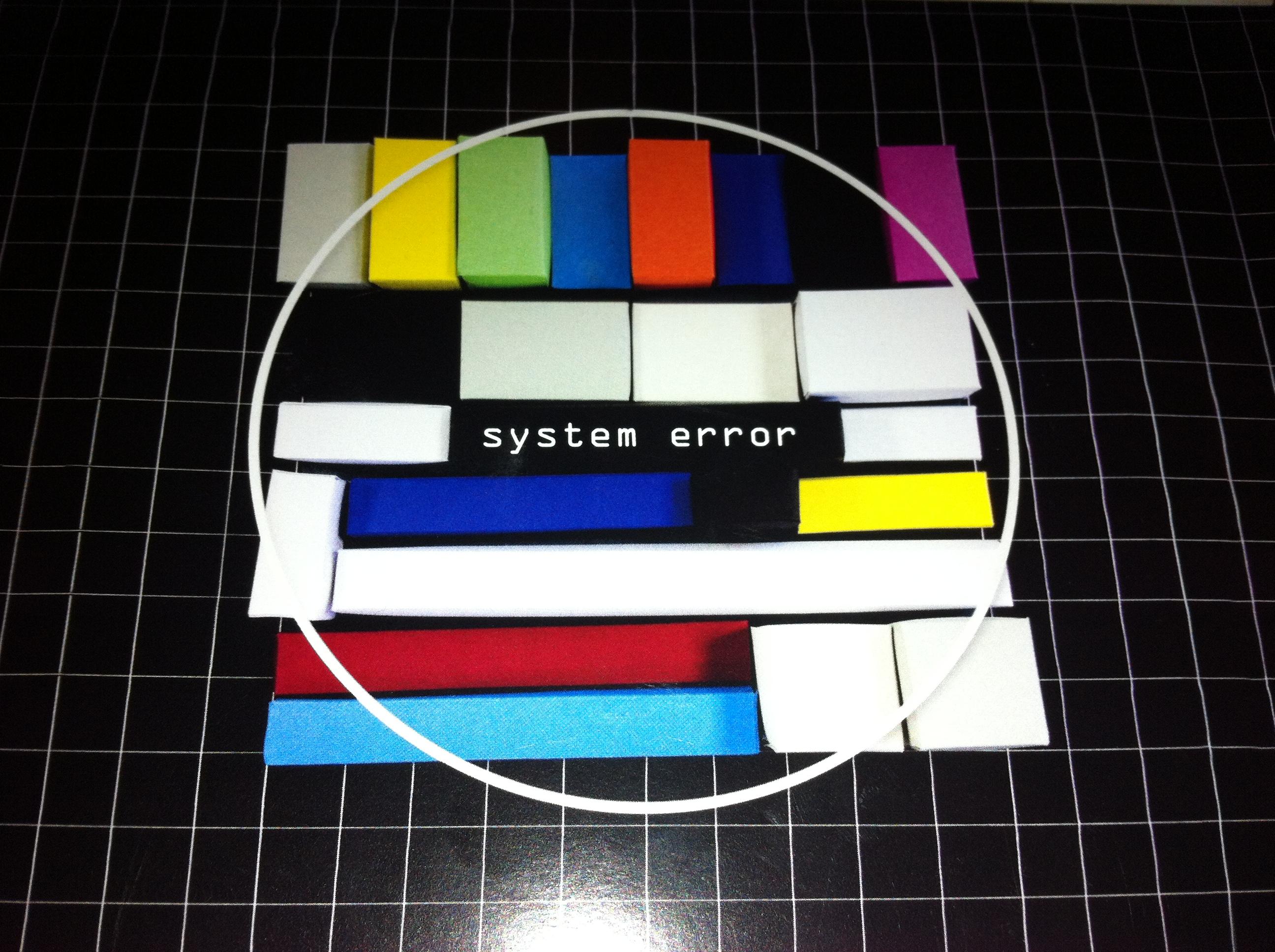 system error (Ausstellungsflyer)