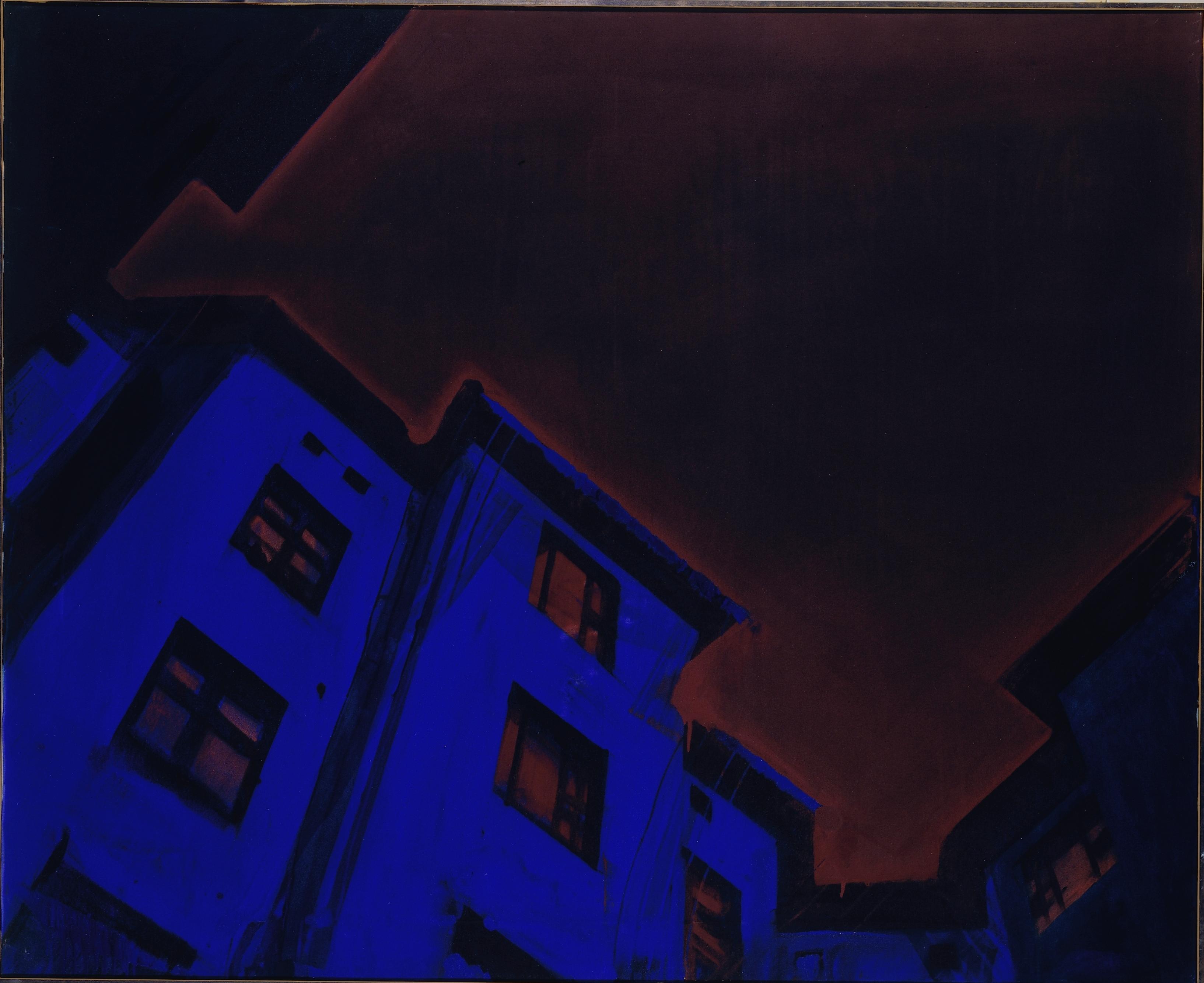 K.H. Hödicke, Himmel über Schöneberg, 1973