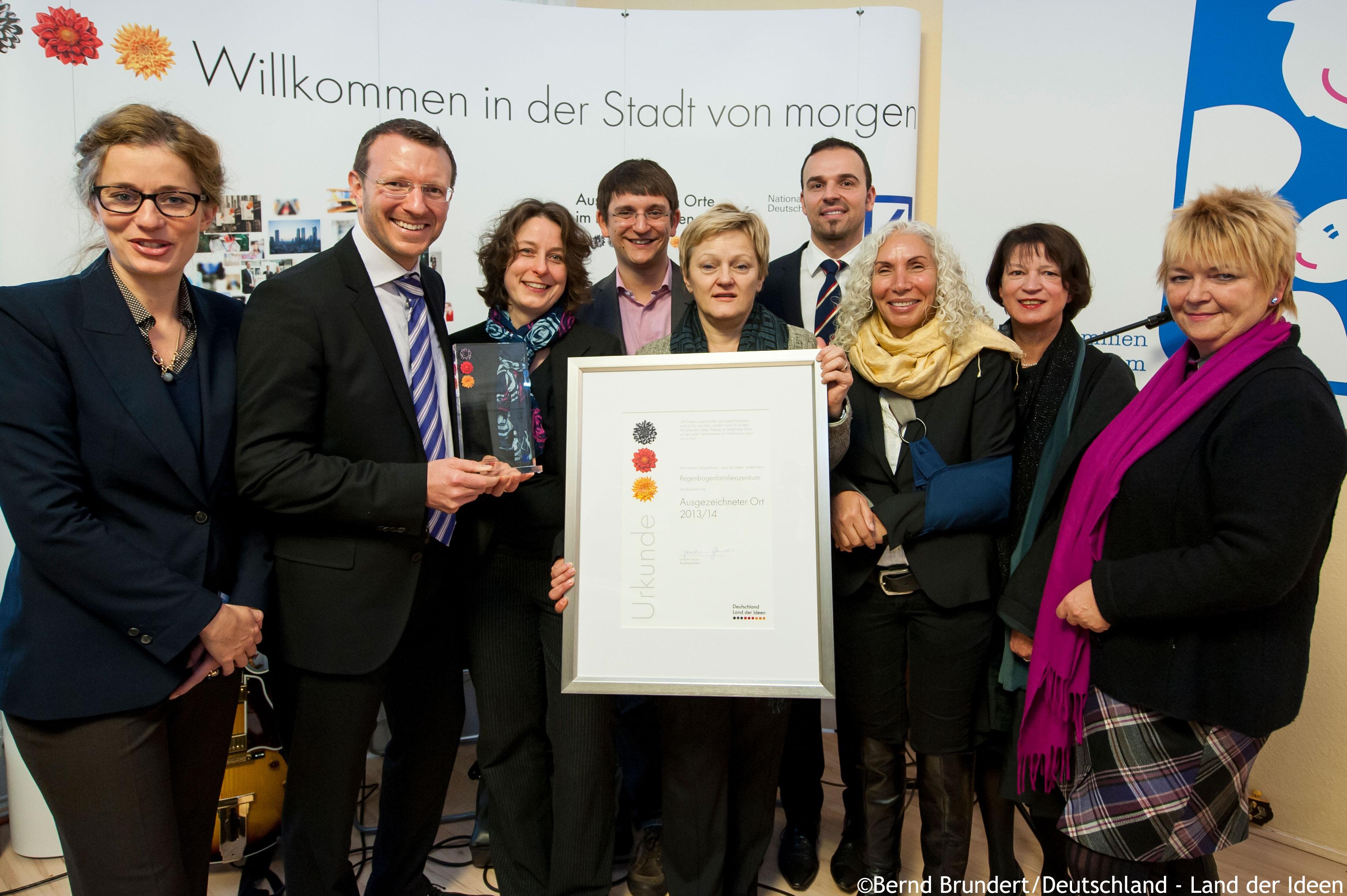 Regenbogenfamilienzentrum, Bildnachweis: Deutschland - Land der Ideen; Bernd Brundert
