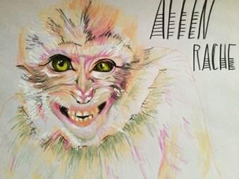 Berlinspiriert_Kunst_Zeichnungen von donata kindesperk aus der Serie_affenrache_