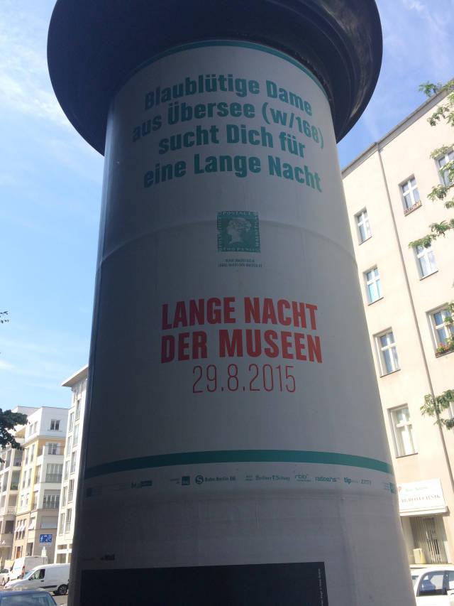 Berlinspiriert Kunst Lange Nacht der Museen - #LNBerlin 2015