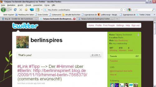 Screenshot Berlinspires @ Twitter