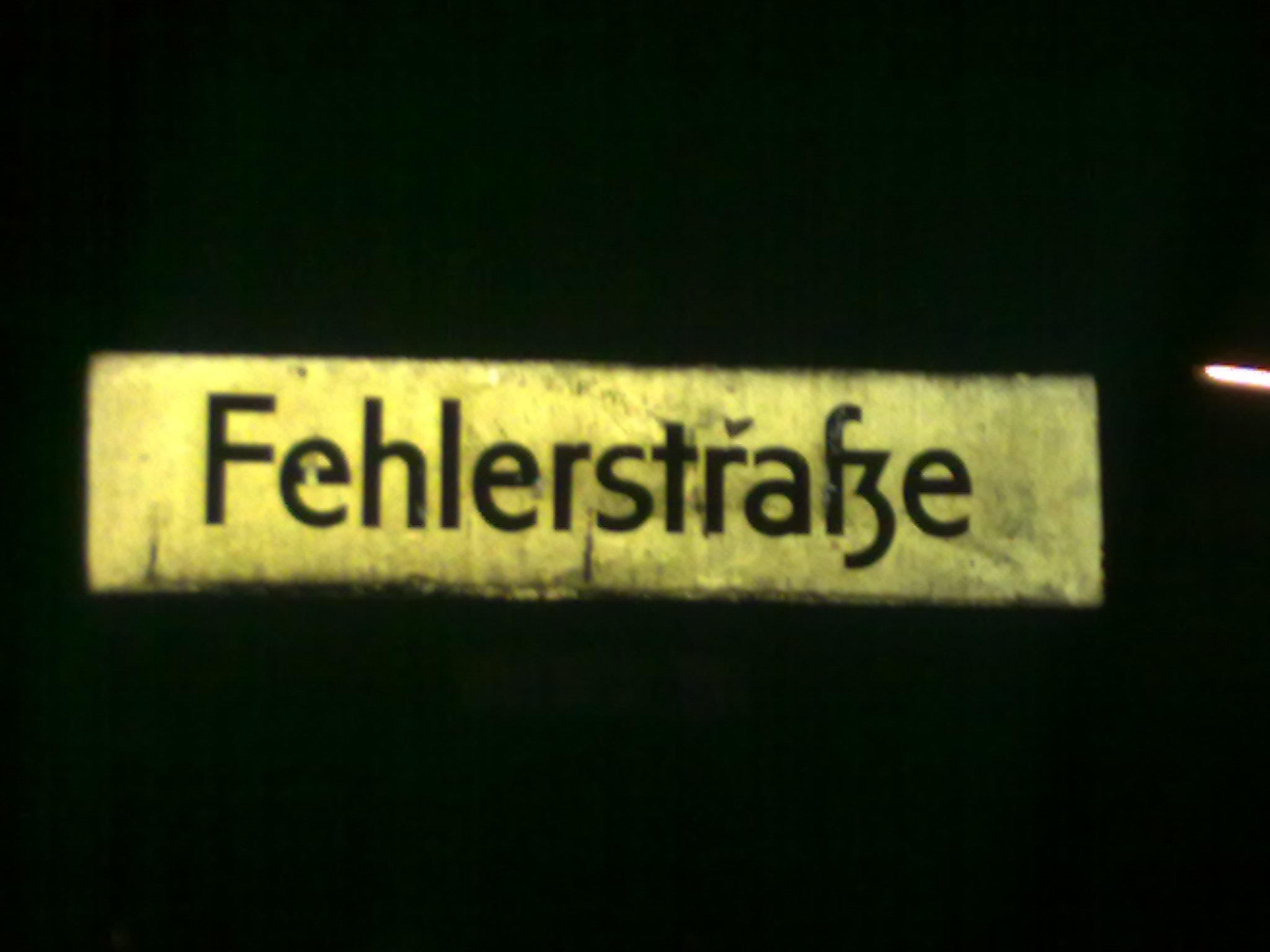 Fehlerstraße Nähe Bundesplatz in Berlin Charlottenburg - Wilmersdorf